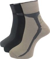 A&G Women's Self Design Ankle Length Socks - Pack Of 3 - SOCEYEG9ABKVZXQB