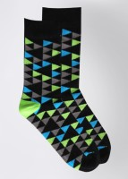 Footsy Men's Geometric Print Crew Length Socks