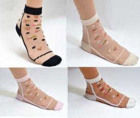 Sabhya Sakshi Women's, Girl's Embellished Ankle Length Socks