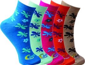Cottstrings Premium Women's Self Design Ankle Length Socks