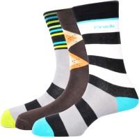 Pinellii Men's Striped Crew Length Socks - Pack Of 3 - SOCEFNTERYYVGYH3
