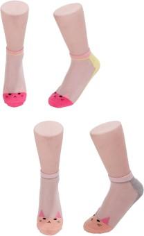 Evince Girl's, Women's Embriodered Ankle Length Socks - SOCEJMU4Z55N2Z2E