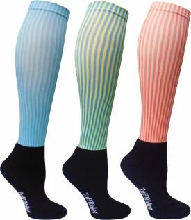 TuffRider Women's Printed Knee Length Socks Pack Of 3