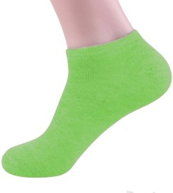 Pink Flamingo Women's Solid Ankle Length Socks