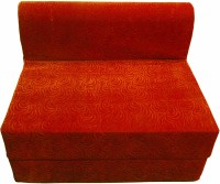 Lukluck Foam Single Sofa Bed (Finish Color - Orange Mechanism Type - Fold Out)