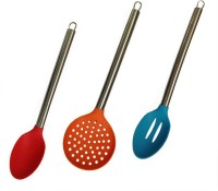 Platex Steel Handle Spatula Non-Stick Spatula (Pack Of 3)