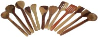 THW Cooking & Serving Spoon,Kitchen Tools , Or Ladle Set Wooden Spatula (Pack Of 12)