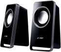 F&D V520 Wired Desktop Speaker - Black, 2 Channel