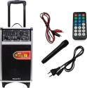 Speed Dj Music System With Wireless Mic Sd Card Usb Fm Player. Home Audio Speaker (Black., 2.0 Channel)