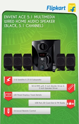 Envent ET-SP51170 Wired Home Audio Speaker