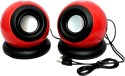 TacGears TG-SQ-BB008 Wired Laptop/Desktop Speakers (Red, 2 Channel)