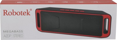Robotek RB-03 Portable Bluetooth Mobile/Tablet Speaker (Red, 2.1 Channel)