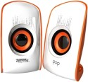 Zebronics Pop 2.0 Multimedia Speaker - White & Orange