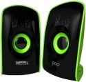 Zebronics Pop 2.0 Multimedia Speaker - Black & Green