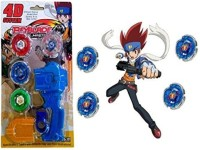 Little Grin D System Beyblade Set With Handle Launcher Metal Fighters (Multicolor)
