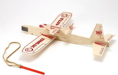 Guillow's Balsa Catapult Sling Glider Model With Piggyback Shuttle (Multicolor)