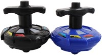 Tootpado Wheels Spinning Tops With Lightning And Music (Pack Of 2) - Musical & Fun Toys For Kids (Multicolor)
