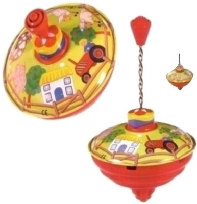 Buy Toysmith Harmonic Spinning Top - Farm by Bolz: Spin Press Launch Toy