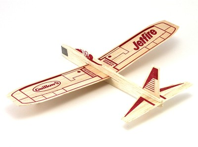 Guillow's Spinning & Press n Launch Toys Guillow's Jetfire Hand Chuck Soaring Glider Airplane