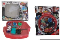 Shopstar Beyblades With 4D System & Light With Extreme Speed Beyblades With Stadium. (Multicolor)