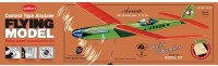 Guillow's Arrow 28 Contest Balsawood Scale Model With 3 Mode Power Flying (Multicolor)