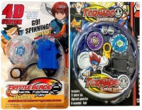New Pinch Combo Of Tornado Metal Fusion 2pcs.set With 5D System Metal Master Fury Beyblade Toy (Multicolor)