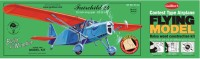 Guillow's Fairchild 24 Contest Balsawood Scale Model With 3 Mode Power Flying (Multicolor)
