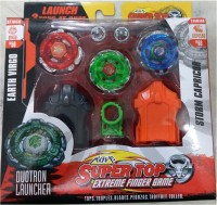 Beyblade 6D System Super Top Extreme Fighter Metal Fusion With Stadium (Multicolor)