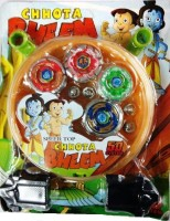 Shop & Shoppee 5D System Chota Bheem Beyblade With Battlefield Stadium (Multicolor)