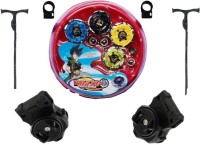 Stylezit Wild Top Beyblade Battle 4 Qty With Two Launchers And Stadium (Metal Series With High Speed) (Multicolor)