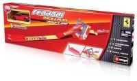 Burago Ferrari Race & Play Launch 'n Jump Playset With Car 1/43 Scale Model (Red)