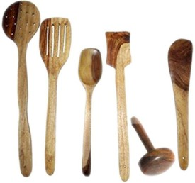 Craftatoz Disposable Wooden Wooden Spoon Set