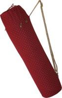 Yoge Maroon Bag With Pocket & Adjustable Strap (For Yoga Mats Of Upto 8mm Thickness) (Maroon, Drawstring Bag)