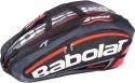 Babolat Racket Holder X12 Team Tennis Bag - Fluo, Black, Red