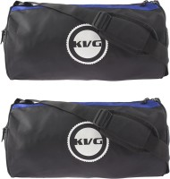KVG Sports Gym Bag Combo Gym Bag (Black, Blue, Dry Bag)