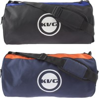 KVG SPORTS DUFFEL TRENDY GYM BAG COMBO Black, Blue, Orange, Dry Bag