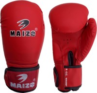 Maizo Synthetic Leather Training 12 Oz Boxing Gloves (L, Red, Black)
