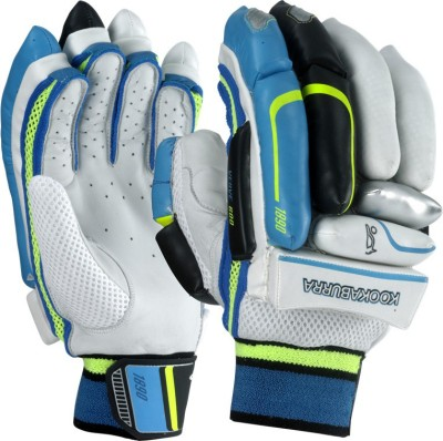 Kookaburra VERVE 700 Batting Gloves (Men, White, Black, Blue)