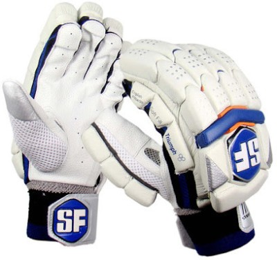 Stanford Triumph-BO Batting Gloves (L, White, Blue, Orange)