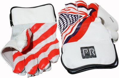 PR Test Wicket Keeping Gloves (Men, White)