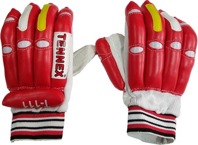 Tennex T-111 Batting Gloves (Free Size, Red, White)