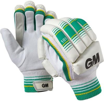 GM 101 Batting Gloves (Youth, White, Green)
