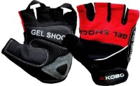 Kobo WTG-04RD Gym & Fitness Gloves (M, Black, Red)