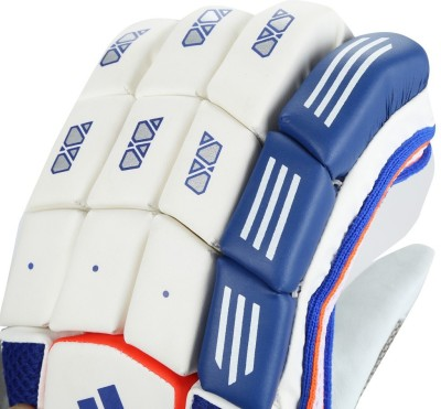 Adidas BG CLUB V1 16 Batting Gloves (M, White, Blue, Red)