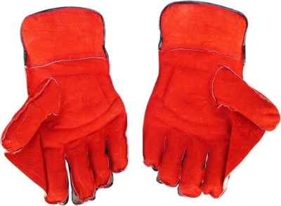TURBO CLUB (Full Samber) Wicket Keeping Gloves (Youth, Red, Yellow)