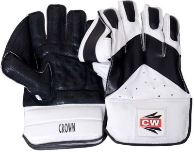CW Crown Wicket Keeping Gloves (Men, Black, White)