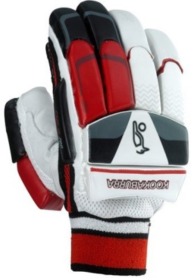Kookaburra Cadejo Players Batting Gloves (Men, Silver, Black, Red)
