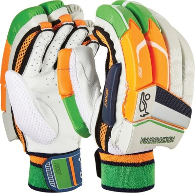 Kookaburra Royale Custom Batting Gloves (Men, White, Orange, Green)