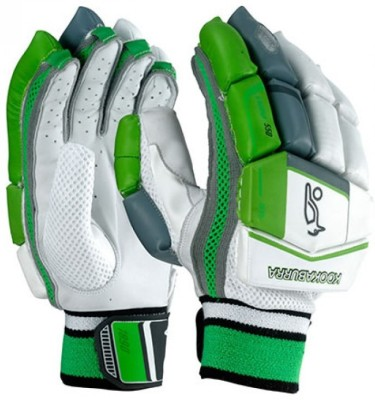 Kookaburra Kahuna 1000 Batting Gloves (Men, White, Green)
