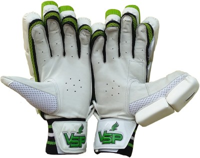 VSP Instinct Batting Gloves (Men, White, Green)